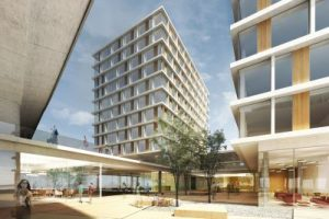Rendering of the new building Donaumarina in Vienna