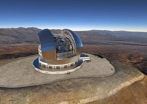 Bild vom Riesenteleskop E-ELT CFD