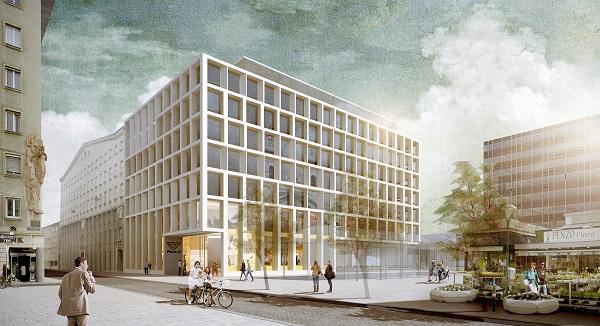 Rendering neue Postzentrale am Rochus in Wien