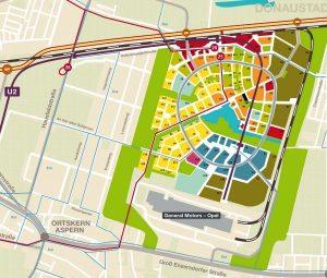 Plan of aspern Vienna's Urban Lakeside