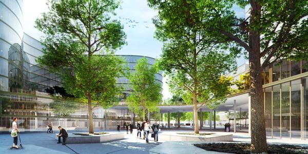 Rendering des neuen Erste Campus in Wien