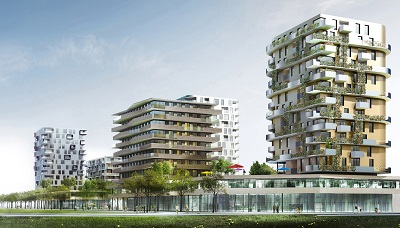 Rendering von Quartier 3 in Graz Reininghaus