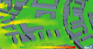 Wind simulation of aspern Vienna's Urban Lakeside